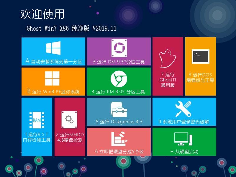 青苹果系统 Ghost Win7 SP1 X86 纯净版V2019.11 OS-第1张