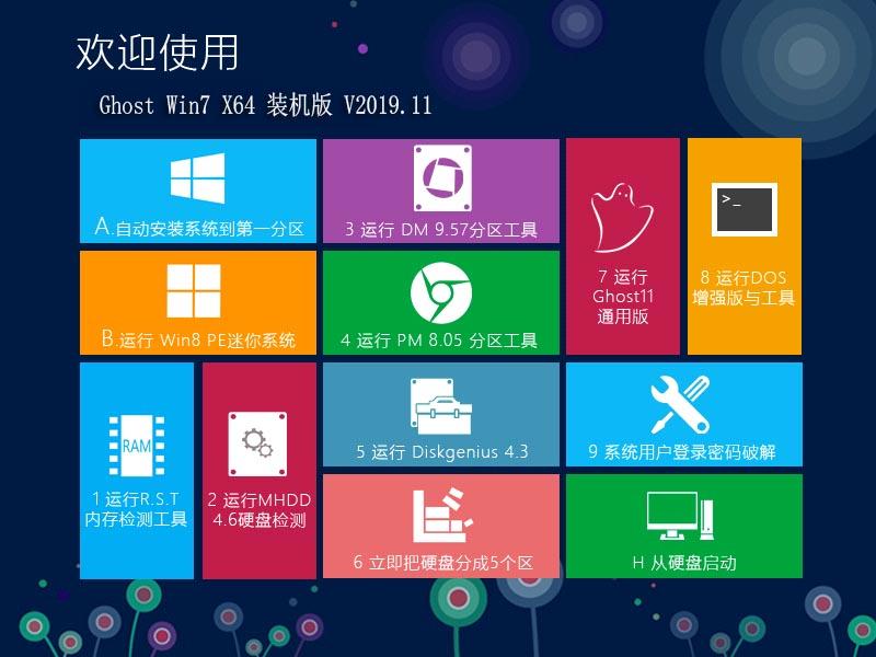 青苹果系统 Ghost Win7 SP1 X64 装机版V2019.11 OS-第1张